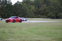 Two R35 GT-R and 2006 Viper Coupe chasing each other